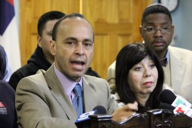 Rep. Luis Gutierrez (D-Chicago) said Monday handguns and unemployment are to blame for Chicago's gun violence. (Feb. 11, 2013)