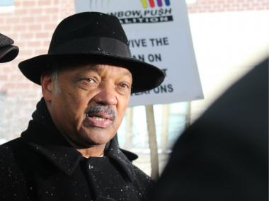 Rev. Jesse Jackson  told  King College Prep  students Thursday that they would turn in a Ku Klux Klan member, but not a gunman.