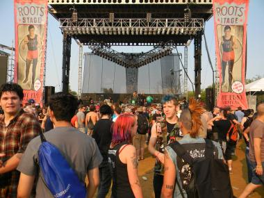 Riot Fest 2012 included opening day shows at the Congress Theater. This year, all three days will be at Humboldt Park.