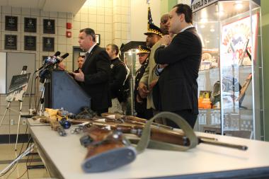 Police continued to call for harsher gun laws in Chicago Monday as 100+ guns are recovered in the last week.