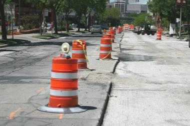 Construction on the Pulaski Road streetscape, from Wilson to Elston, is scheduled through the end of 2014.