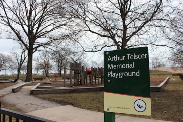 <p>Telscer Park is located at 3151 N. Lake Shore Dr., near Barry Avenue.</p>