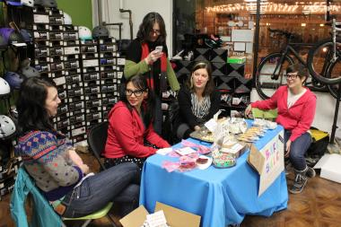 The female cycling group Tiny Fix hosted a fundraiser Feb. 23 for Dustin Valenta, a bike messenger who was injured in a hit-and-run in Wicker Park Feb. 8.