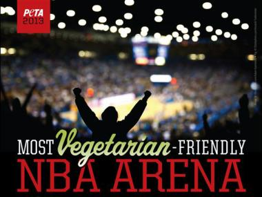 The United Center landed seventh on PETA's top 10 list of vegetarian-friendly NBA arenas.