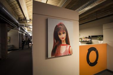 A multimedia production studio doubles as an art gallery in River North.