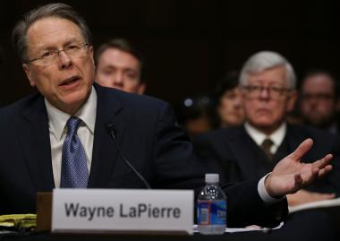 Wayne LaPierre, CEO of the National Rifle Association, called on stricter enforcement of existing federal laws to address gang violence in Chicago.