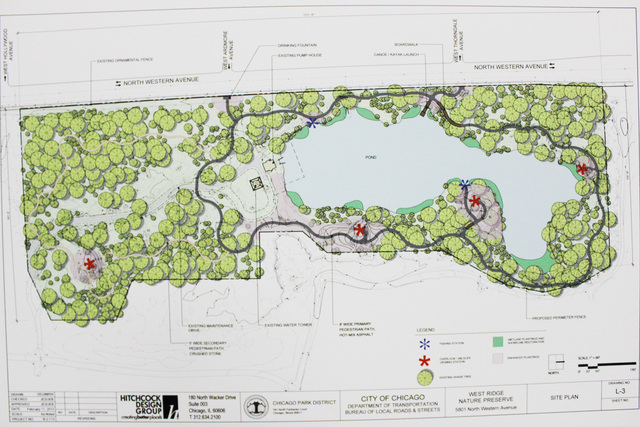 <p>The conceptual design of the new park proposes kayak launches and designated fishing areas along an asphalt path circling the pond.</p>