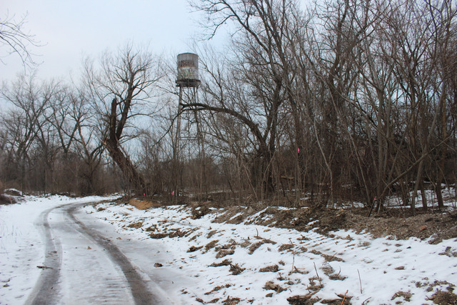 <p>Rosehill Cemetery sold about 20 acres to the city, but maintains the rights to the water tower near the pond on the property.</p>