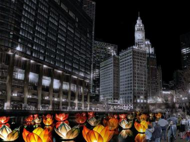 An artist's rendering of how the Great Chicago Fire Festival is expected to look when launched in the fall of 2014.