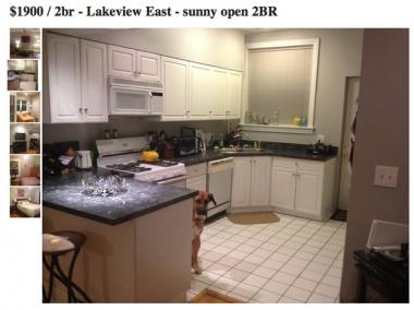 Buzzfeed picked up on this Craigslist listing from Lakeview in which a dog sneaks into every snapshot.
