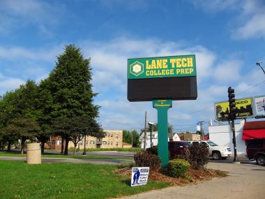 The Lane Tech community is concerned that Chicago's largest high school is the only one without security cameras.