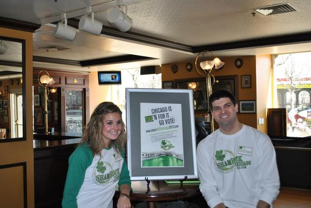 <p>ShamROCK Chicago campaigns for petition signatures at a pre-St. Patrick&#39;s Day event.</p>