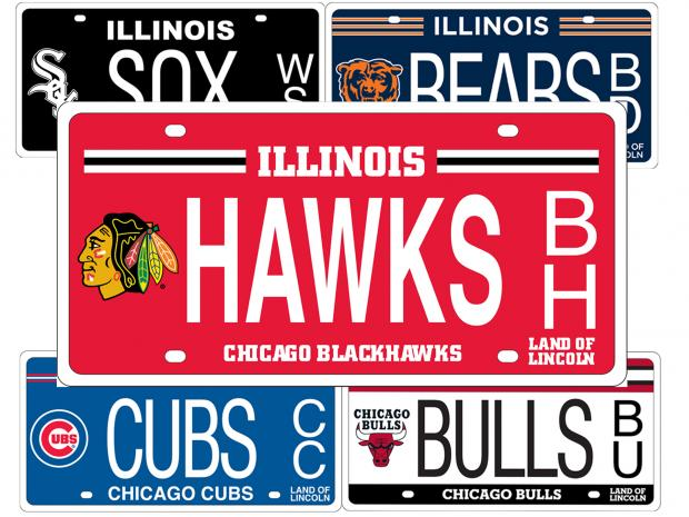 illinois: sports team license plates now available for motorcycles