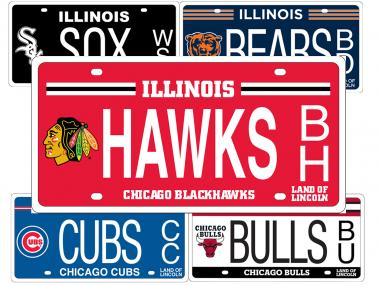 The Chicago Blackhawks have the most popular pro sports specialty license plate in Illinois.