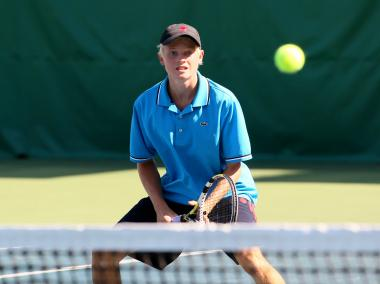 University of Chicago Laboratory Schools senior Conrad Harron is one of the top high school tennis players in Illinois.