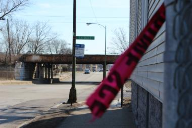 Near the scene where Charles Bush, 33, was fatally shot in the 5900 block of South LaSalle Street.