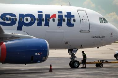 A 41-year-old Chicago man died Monday on a Spirit Airlines flight from Las Vegas to O'Hare International Airport, authorities said.