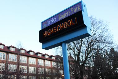 UNO Charter Schools opened a Rogers Park location in 2012 on the former campus of St. Scholastica Academy.