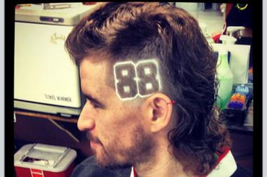George Hillier has an extreme mullet hairstyle in honor of Chicago Blackhawks star Patrick Kane, who's well-known for his mullet haircut.