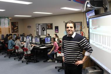 Disney Magnet School Music Technology Teacher Jason Fahrenbach is a rising star in the Chicago Public Schools.