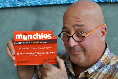 Andrew Zimmern, winner of the 2013 James Beard Award for Outstanding TV Personality/Host, emceed the Munchies Awards.