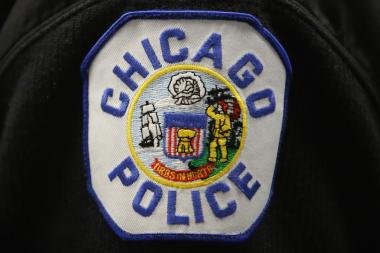 A Chicago police patch.