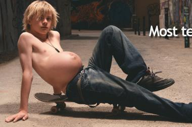 The campaign using images of seemingly pregnant teenage boys actually originated in Milwaukee.