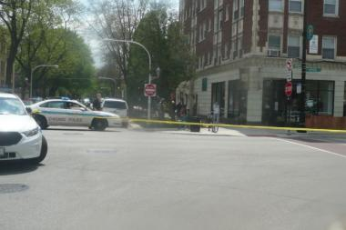 No one was hurt when bullets flew Saturday afternoon in Rogers Park.