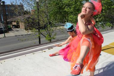 The Wake Up! Waltz dancers will perform on the Haas Park Fieldhouse roof through June 6.