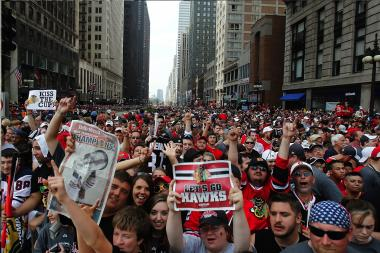 Follow the Blackhawks along their 2013 Stanley Cup parade route.