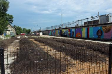 A lot in the 400 block of North Kedzie Avenue is being transformed into an urban farm that will produce fresh produce for low-income residents.