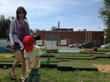 City Mini Golf debuted Friday.