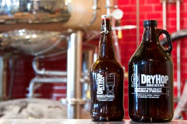 "DryHop craft brewery and gastropub had a big grand opening over the weekend, and diners ""ate us out of house and home,"" owner Greg Shuff said."