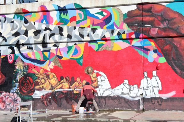 Condo association funds new blue island avenue mural for Chicago mural project