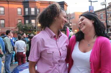 Cahontas Vincent and Elizabeth Heaton are Chicago Public School teachers who recently got engaged. The couple was disappointed when state lawmakers failed to vote on marriage equality legislation.