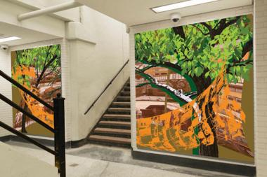 Out of hundreds of submissions, seven pieces of art made the cut to adorn walls at the rehabbed stations.