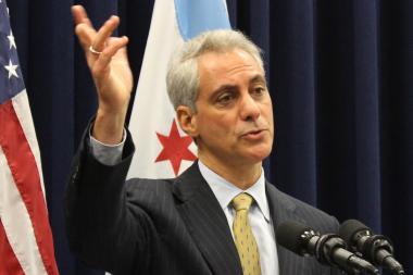 "Mayor Rahm Emanuel told both car drivers and cyclists, ""They have to drive and ride responsibly."""