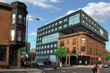 "Developers behind the proposed Out Hotel Chicago, a second location of a ""straight-friendly"" LGBT hotel, cut the design down by two floors after residents complained the size was out of character with the neighborhood."