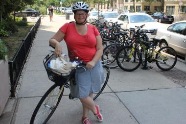 Uptown resident Connie Howes says she would love to see protected bike lanes in Uptown.