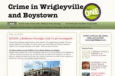 "A blog called ""Crime in Wrigleyville and Boystown"" has pushed residents to contact local leaders."