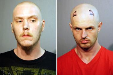 Emil Niemi (right) and Brian Lykins were connected to three robberies in June in Belmont Cragin and Montclare.
