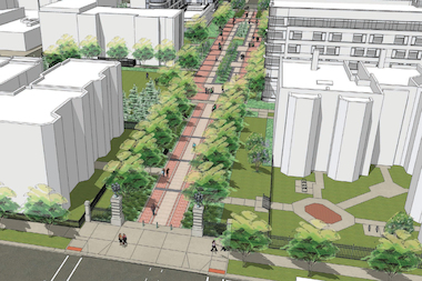 Loyola University presented new renderings of what a closed Kenmore Avenue would look like.