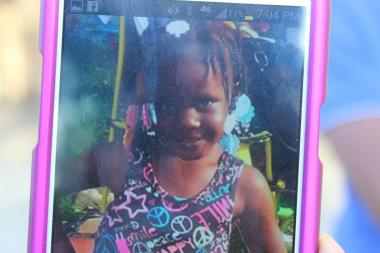 Khalise Weatherspoon, 4, was shot along with another man.