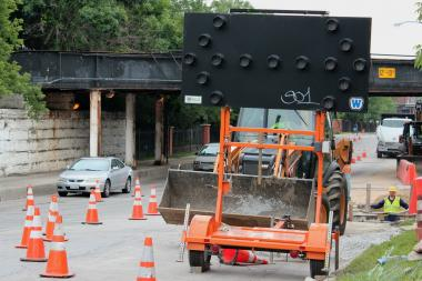 Utility work on Milwaukee Avenue is just a taste of what's to come during a year-long construction project, including closure of the street's southbound lane.