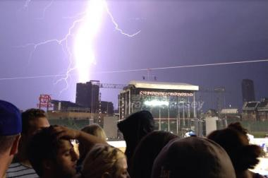 After storms hit Chicago Friday night, Pearl Jam promised fans a full set at Wrigley Field. Some neighbors weren't happy the band played until 2 a.m., breaking and 11 p.m curfew.
