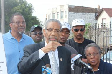 U.S. Rep. Bobby Rush (D-Chicago) said he is not happy that a $93 million construction project in Englewood has benefited white-owned companies more than black-owned companies.