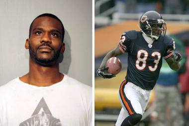 Former Chicago Bears wide receiver David Terrell was hit with felony drug charges after being arrested in Bronzeville Friday.