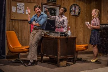 """B-Side Studio,"" a serialized sitcom-style play, opens at the University of Chicago's Logan Center for the Arts on Friday."