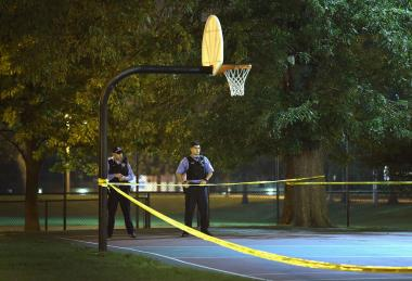 Police said the shooting, which happened in a park about 10:15 p.m. Thursday, was gang-related.