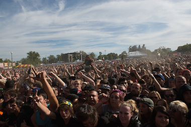 An estimated 30,000 people gathered in Humboldt Park proper for day two of the 2013 Riot Fest.
